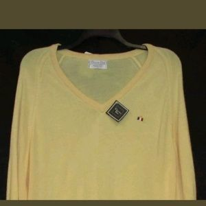 Christian Dior Vintage V-Neck Pullover Sweater